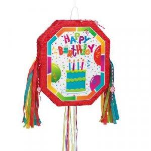 Πινιάτα Happy Birthday με Τούρτα Γενεθλίων