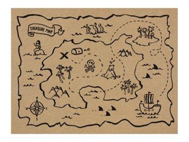 Pirates Party Σουπλά Χάρτινα (30τμχ)