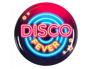 Disco Fever Large Round Plastic Tray (34,5cm)