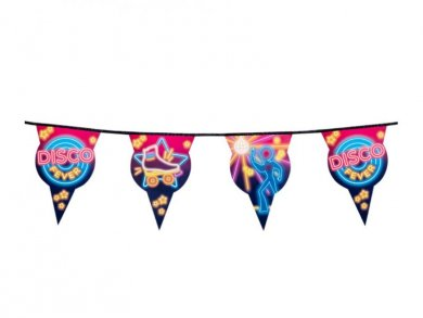 Disco Fever Flag Bunting (6m)
