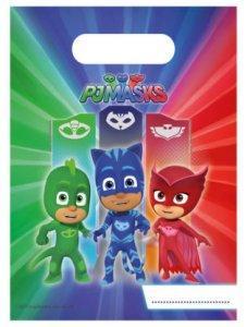 Pj Masks Plastic Favor Bags (6pcs)