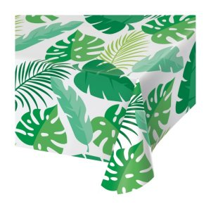 Palm Leaves Plastic Tablecover (137cm x 274cm)