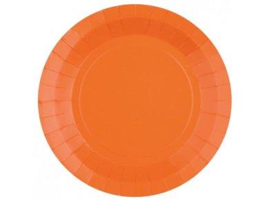 Orange Large Paper Plates (10pcs)