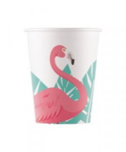 Pink Flamingo Paper Cups (8pcs)