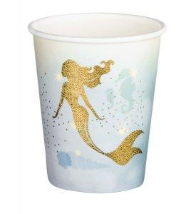 Paper Cups Gold Mermaid (6pcs)