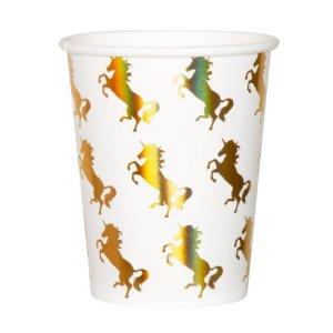 Paper Cups Gold Iridescent Unicorn (6pcs)