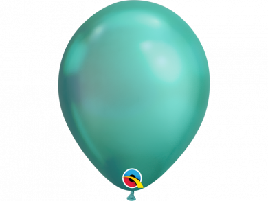 Green Chrome Latex Balloons 6pcs