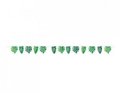 Green Leaves Happy Birthday Garland (2,25m)