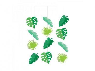 Green Leaves Hanging Decorations (3pcs)