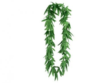 Green Tropical Leaves Hawaiian Lei