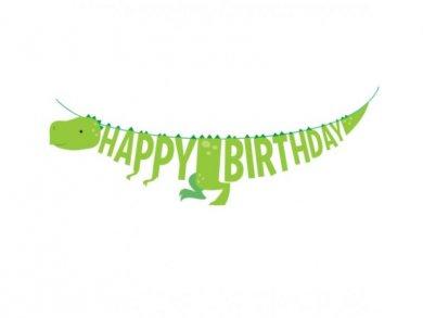 Πράσινος Δεινόσαυρος Γιρλάντα για Γενέθλια (1,67μ)