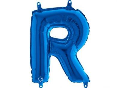 R Letter Balloon Blue (35cm)