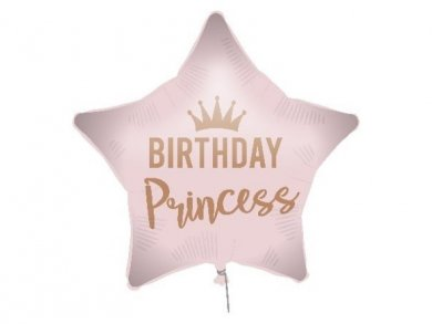 Pink Star Birthday Princess Foil Balloon 46cm