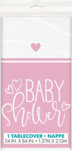 Pink Baby Shower Plastic Tablecover Party Supplies For Baby Girls