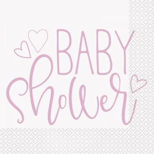 Pink Baby Shower Luncheon Napkins (16pcs)