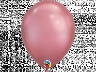 Rose Chrome Latex Balloons 6pcs