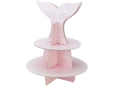 Pink Mermaid 2Tier Cupcake Stand (37cm)