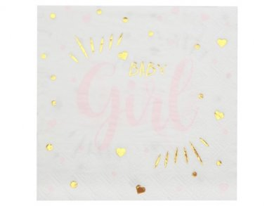 Pink and Gold Baby Girl Luncheon Napkins (20pcs)