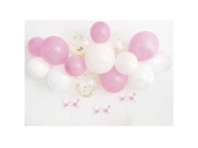 Ροζ Καρό Γιρλάντα - Αψίδα Μπαλόνια (1,20μ)