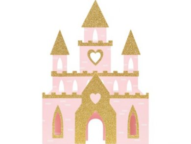 Pink Princess Castle Centerpiece Decoration (27.9cm x 38.1cm)
