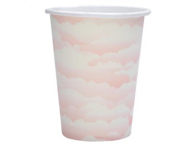Pink Clouds Paper Cups (10pcs)