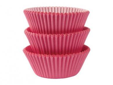 Ροζ Θήκες για Cupcakes 75τμχ
