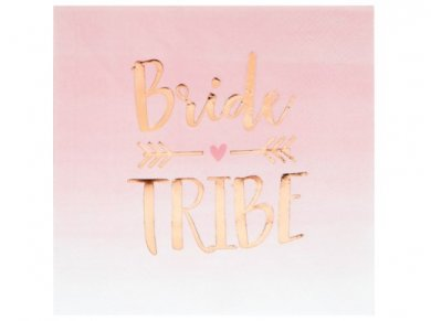 Pink Luncheon Napkins with Gold Foiled Bride Tribe Print (16pcs)