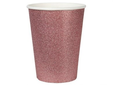 Rose Gold Glitter Paper Cups (10pcs)
