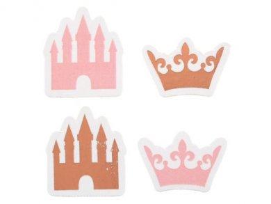 Ροζ Χρυσή Πριγκίπισσα Κομφετί (24τμχ)
