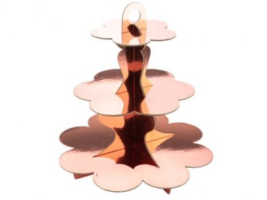 Rose Gold 3Tier Cupcake Stand (34cm)