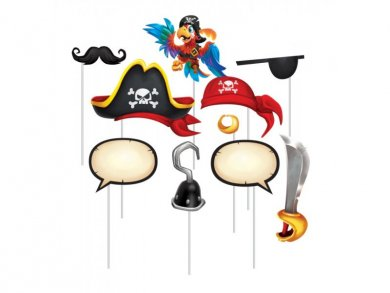 Pirate Treasure Photobooth Props 10pcs
