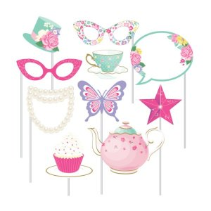 Photobooth Props Floral Tea Party (10pcs)