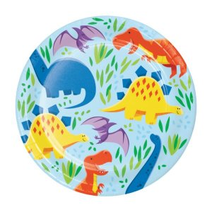 Dinosaurs Friends Small Paper Plates (8pcs)