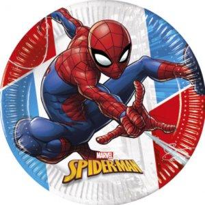 Spiderman Compostable Large Paper Plates (8pcs)