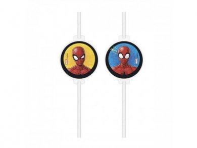 Spiderman Paper Straws 4pcs