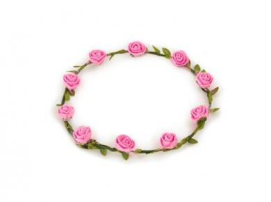 Στεφάνι για τα Μαλλιά με Ροζ Τριαντάφυλλα