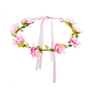 Headband with Pink Roses