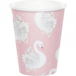 Stylish Swan Paper Cups (8pcs)