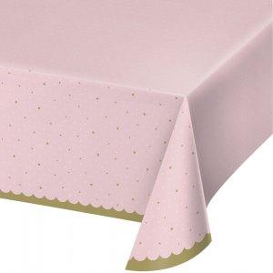 Stylish Swan Pink Plastic Tablecover (137cm x 259cm)