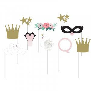 Stylish Swan Photobooth Props (10pcs)