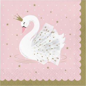 Stylish Swan Luncheon Napkins (16pcs)