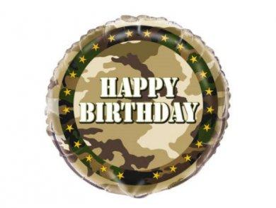 Στρατιωτικό Foil Μπαλόνι για Γενέθλια (45,7εκ)