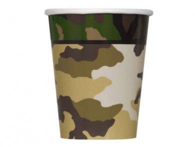 Στρατιωτικό Ποτήρια Χάρτινα (8τμχ)