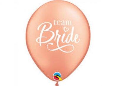 Team Bride Rose Gold Pearl Latex Balloons (6pcs)