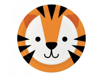 Tiger Small Paper Plates (8pcs)