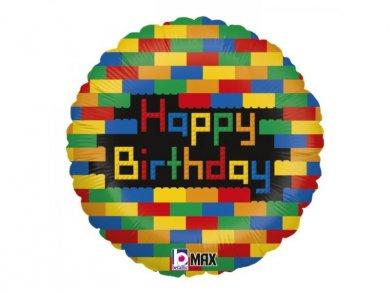 Block Party Happy Birthday Foil Balloon 46cm