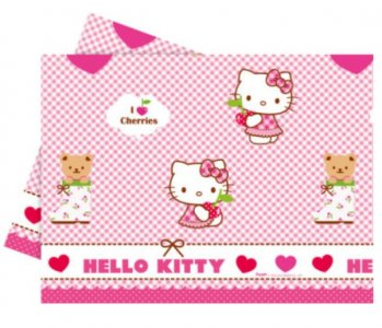 Hello Kitty Plastic Tablecover (120cm x 180cm)