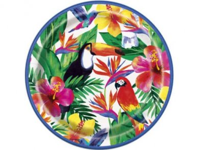 Tropical Luau Large Paper Plates (8pcs)