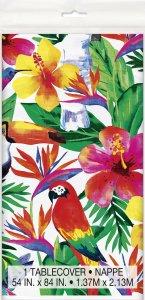 Tropical Luau Plastic Tablecover