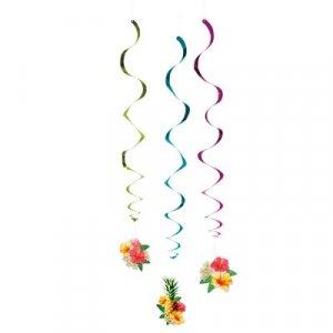 Tropical Paradise Swirl Decorations (3pcs)